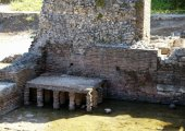 All'interno del parco archeologico di Butrint